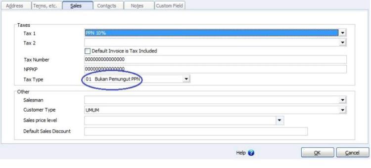 Accurate Accounting Software Perubahan Penginputan Faktur Pajak