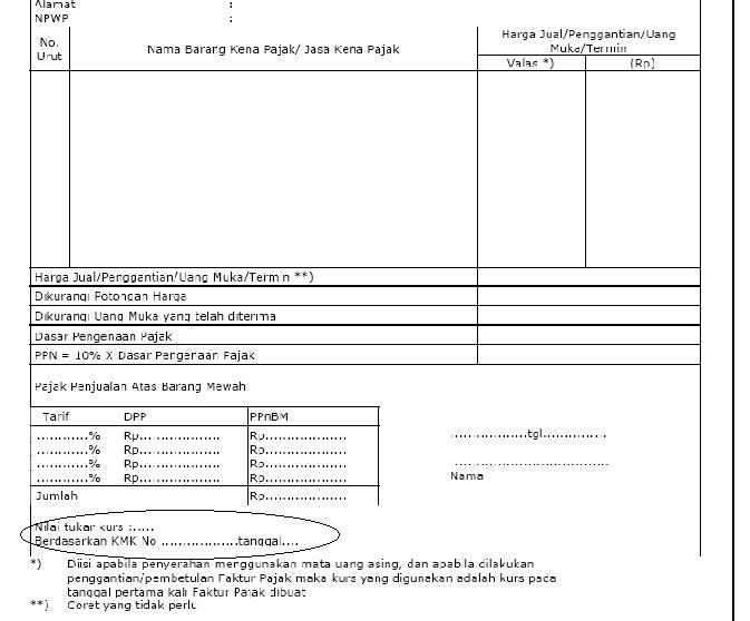 Faktur Pajak Mata Uang Asing di ACCURATE Accounting Software