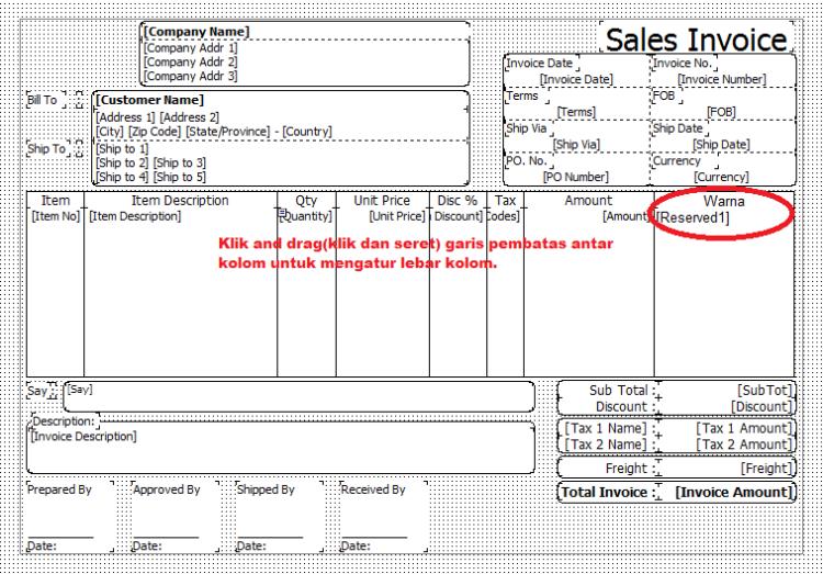 Designer Invoice
